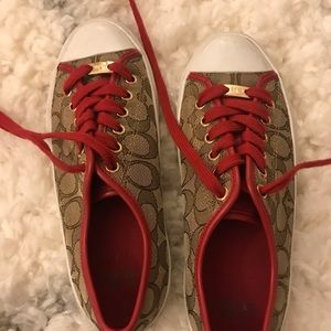 Coach's Red Sneakers